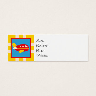 Cute Airplane Transportation Theme Kids Gifts Mini Business Card
