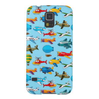 Cute Airplanes Helicopters Airships  Pattern Galaxy S5 Cases