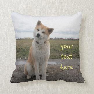 cute Akita Inu pillow