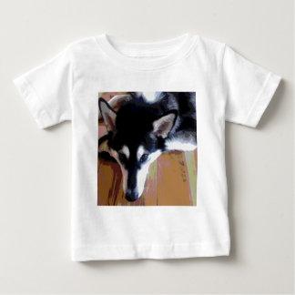 Cute Alaskan Malamute Face Baby T-Shirt