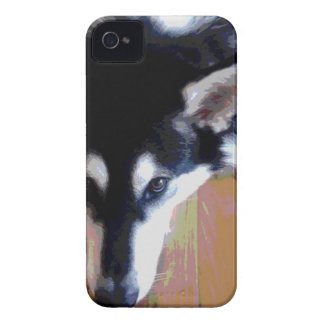 Cute Alaskan Malamute Face Case-Mate iPhone 4 Case