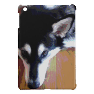 Cute Alaskan Malamute Face Cover For The iPad Mini