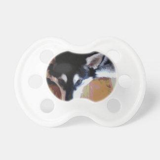Cute Alaskan Malamute Face Pacifier
