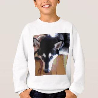 Cute Alaskan Malamute Face Sweatshirt