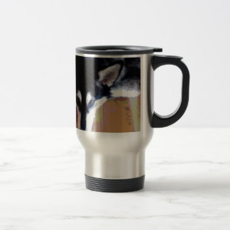 Cute Alaskan Malamute Face Travel Mug