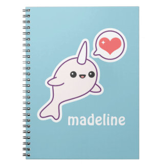 Cute Albino Narwhal Notebook