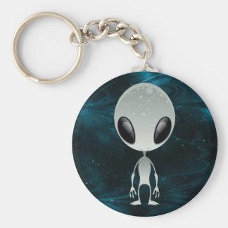 Cute Alien Basic Round Button Keychain