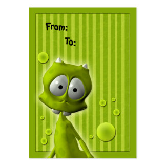 Cute Alien Gift Tag Large Business Card
