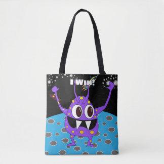 Cute Alien I Win Tote Bag