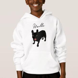 Cute all black brindle French Bulldog puppy