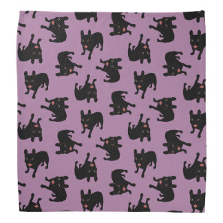 Cute all black brindle French Bulldog puppy Bandana