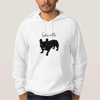 Cute all black brindle French Bulldog puppy Hoodie