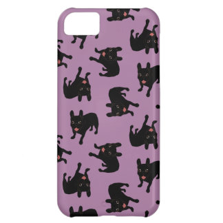 Cute all black brindle French Bulldog puppy iPhone 5C Cases