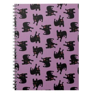 Cute all black brindle French Bulldog puppy Notebook