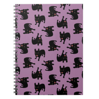 Cute all black brindle French Bulldog puppy Notebooks