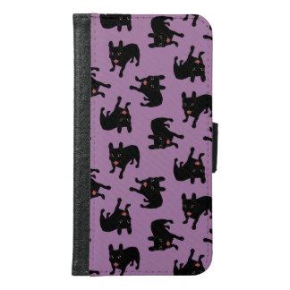 Cute all black brindle French Bulldog puppy Samsung Galaxy S6 Wallet Case