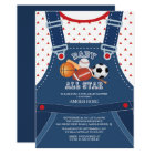 Cute ALL STAR SPORT Baby Shower Invitation