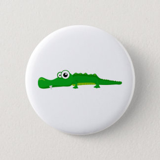 Cute alligator 2 inch round button