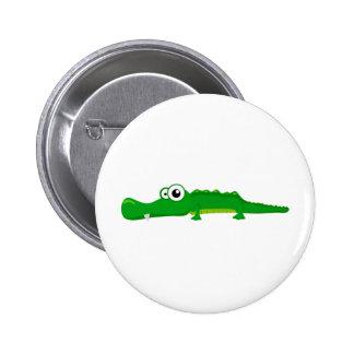 Cute alligator 2 inch round button