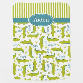 Cute Alligator Baby Blanket