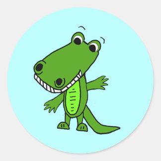 Cute Alligator Cartoon Stickers