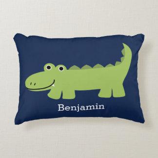 Cute Alligator Kids Accent Pillow