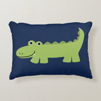 Cute Alligator Kids Decorative Pillow
