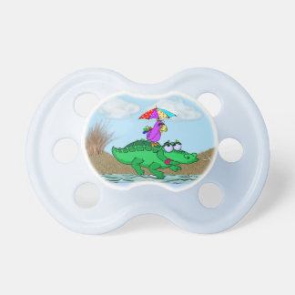 Cute Alligator & Parrot on BooginHead® Pacifier