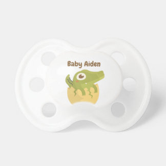 Cute Alligator Tiny Fang in Egg Baby Boy Pacifier