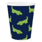 Cute Alligators Pattern Birthday Paper Cup