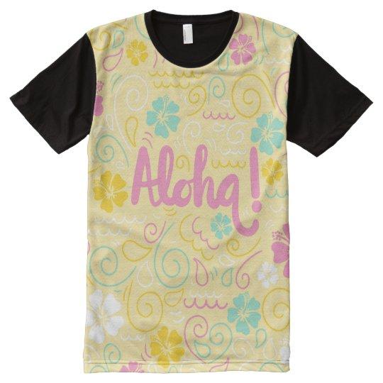 Cute aloha hawaiian colourful men's t-shirt