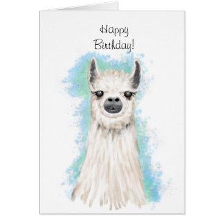 Cute Alpaca Happy Birthday Card