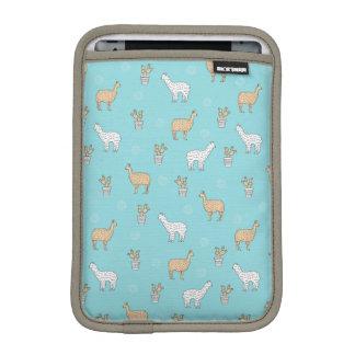 Cute Alpaca Llama Cactus Pattern iPad Mini Sleeve