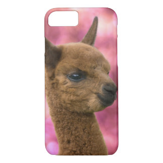 Cute Alpaca Portrait iPhone 7 Case