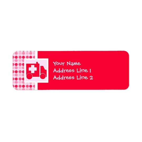 Cute Ambulance Return Address Label