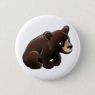 cute American Black Bear 2 Inch Round Button