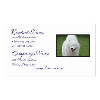 Cute American Eskimo Dog Business Card Template