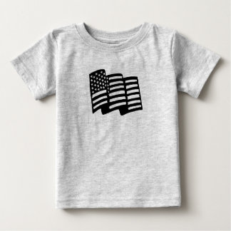 Cute American Flag T-Shirt for Baby Toddler Kids