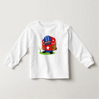 Cute American football player holding a football, Toddler T-shirt