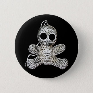 Cute Amigurumi Voodoo Doll 2 Inch Round Button
