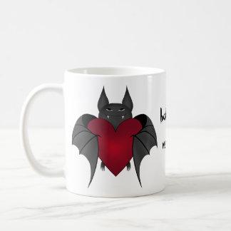 Cute amorous bat coffee mug