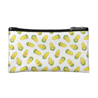 Cute Amusing Corn Expressions Pattern Cosmetic Bag