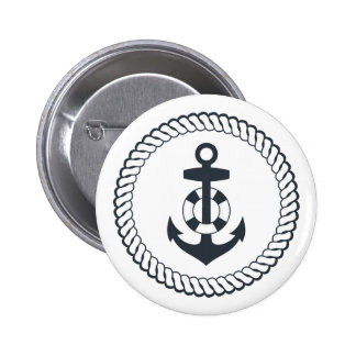 Cute Anchor 2 Inch Round Button