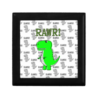 Cute and Angry T-Rex With Black And White Pattern Gift Box