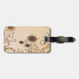 Cute and Brown Flowers Luggage Tag