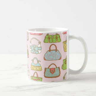 Cute and Colorful Bags Illustration Pattern Coffee Mug