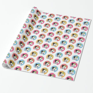 Cute and Colorful Birthday Jack Russell Wrapping Paper