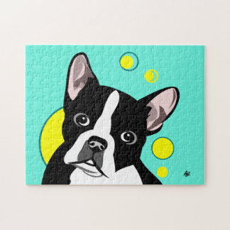 Cute and Colorful Boston Terrier Jigsaw Puzzles