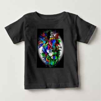 cute and colorful lion print baby T-Shirt