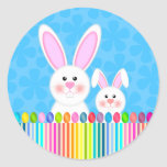 Cute and Colourful Easter Bunny Stickers